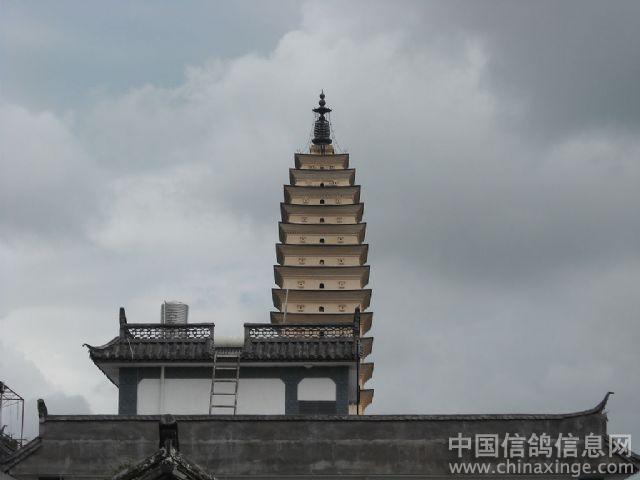 鸽棚的对面就是大理三塔中的千寻塔