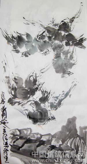 水墨鸽子图片素材