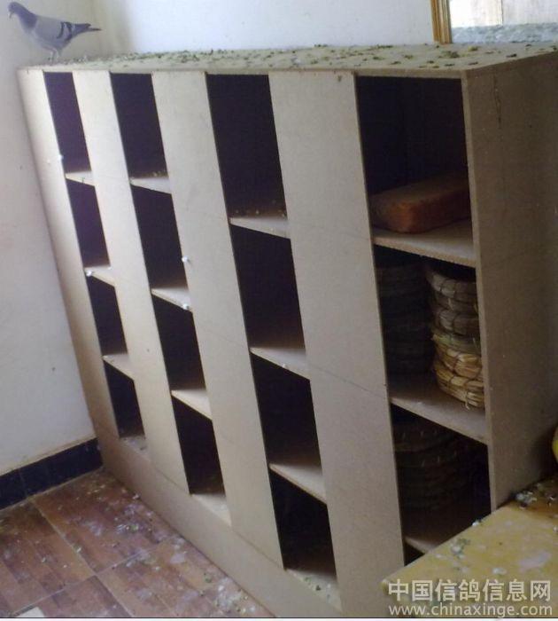 自制木材鸽子巢箱图