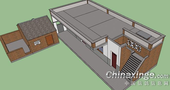 乡村房子俯视图