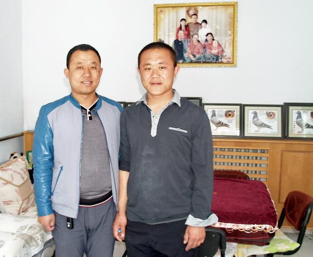 巴彦淖尔市杭锦后旗兄弟鸽舍赵宇(右)韩江(左)